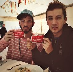 Love them to pieces!  Twenty one pilots!! Tyler Joseph Joshua Dun