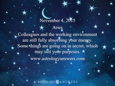 The Astrology Answers Daily Horoscope for Wednesday, November 4, 2015 #astrology