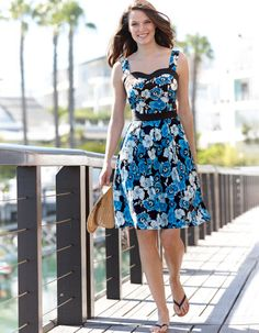 Floral Sundress in Blue Floral by Pepperberry