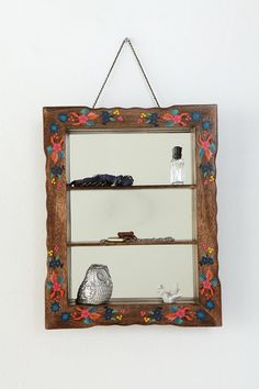 Hand Painted Mirrored Shelf  #UrbanOutfitters