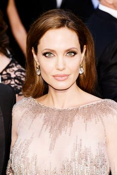 Angelina Jolie {love the make up but the dress was unflattering}