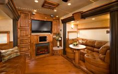 "This is part of a luxury horse ""trailer""!!  OMG"