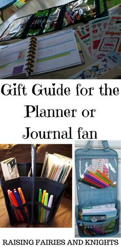 Gift Guide for the Planner or Journal Fan - Great stocking stuffer ideas and gift ideas for anyone who loves to use a planner or journal.