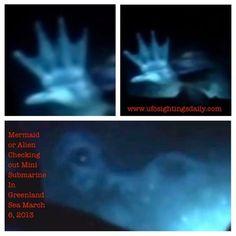 UFO: Mermaid-like alien appears in Ocean