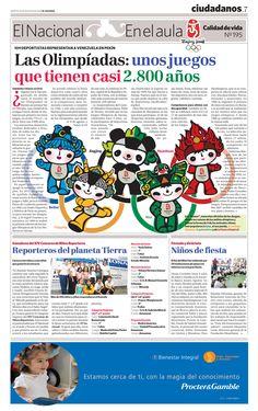 El Nacional en el aula publicó en 2008 un reseña sobre los Juegos Olímpicos