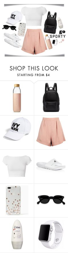 """""""Go Sporty"""" by monique-joanne ❤ liked on Polyvore featuring Soma, PB 0110, Ivy Park, Finders Keepers, Helmut Lang, adidas, Kate Spade, Apple and Topshop"""