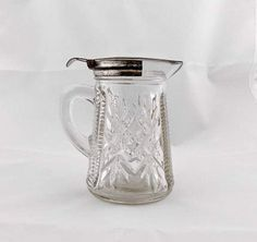 Collectible Glass Pitcher-Gift Idea-Graduation gift by Pastfinds