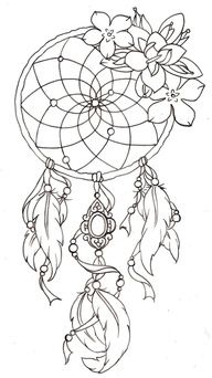 Dream Catcher Tattoo, this would look awesome colored!