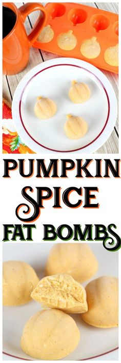 Try these Pumpkin Spice Fat Bombs for your Keto Thanksgiving! They taste just like a Low Carb Pumpkin Cheesecake! #keto