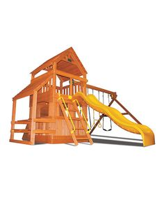 Another great find on #zulily! Superior Original Fort Hangout & Wooden Swing Set #zulilyfinds