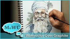 Using Watercolor Over Pencil and Graphite Drawings
