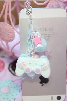 Kawaii Carousel Pony Candy Phone Charm Purple by kittywooddesigns Pastell Goth Outfits, Geek Mode, Fimo Kawaii, Kawaii Crafts, Kawaii Anime, Mode Kawaii, Accessoires Iphone, Dust Plug, Kawaii Room