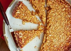 Honey-Almond Tart with Orange Mascarpone - I made this last year for thanksgiving and OH MY GOODNESS it is good! Honey Recipes, Sweet Recipes, Just Desserts, Dessert Recipes, Honey Almonds, Dessert Bread, Something Sweet, Coco, Yummy Treats