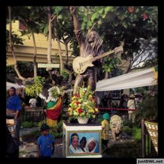 Bob Marley's Statue, at his house, on His Birthday