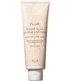 Fresh Sugar Acai Age-Delay Body Cream-best firming body skin moisturizer/cream 2016 $65 for 6 oz