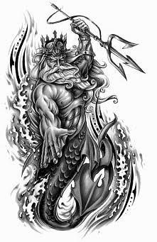 Image result for poseidon sketch