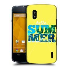 HEAD CASE HELLO SUMMER SNAPSHOT DESIGN HARD BACK CASE COVER FOR LG NEXUS 4 E960 | eBay