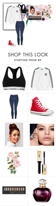 """""""Untitled #298"""" by imfireproof01 ❤ liked on Polyvore featuring Calvin Klein, adidas, Topshop, Converse, Forever 21 and NARS Cosmetics"""
