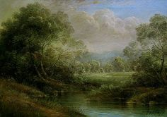 Arthur Braginsky - I love overly romanticized ethereal paintings as from the Hudson River Valley painters