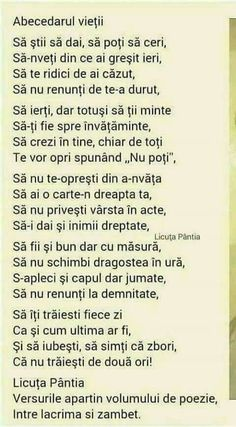 Ce Scrie în Abecedarul Vieții.. Cool Words, Wise Words, My Love Poems, I Love My Son, School Staff, Happy Birthday Wishes, Love Photos, Famous Quotes, Motto