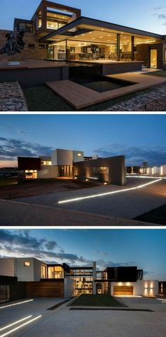 Nico van der Meulen Architects have designed House Boz located in Pretoria, Sout… – 2019 - Architecture Decor Exterior Siding, Exterior House Colors, Wall Exterior, Stone Exterior, Modern Exterior, Exterior Design, Contemporary Architecture, Architecture Design, Contemporary Office