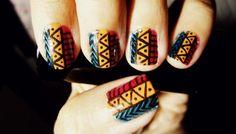 Sweet tribal nail art