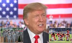 President Trump fails to salute flag during military ceremony
