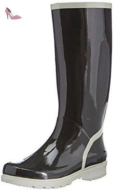 Playshoes  Wellies Wellington Boots, Bottes de neige femme - Noir - Black - Schwarz (schwarz/grau 796), 38.5 (6 UK) - Chaussures playshoes (*Partner-Link)