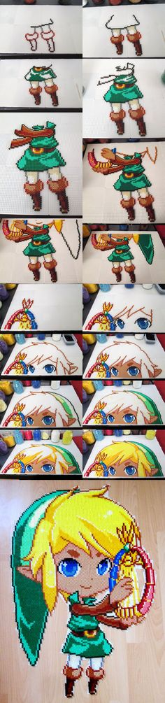 Link [Oracle of Ages] - Step by Step Hama perler beads by Aenea-Jones on DeviantArt