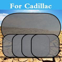 5PCS Car Black Pinstripe Mesh Sun Visor Set Window Screen For Cadillac ATS-V BLS CT6 CTS-V De Ville DTS ELR SRX STS XLR XTS