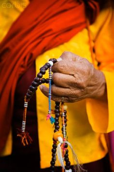 Prayer beads, Bhutan. Buddhist prayer beads or malas are a traditional tool used to count the number of times a mantra is recited, breaths while meditating, counting prostrations, or the repetitions of a Buddha's name.