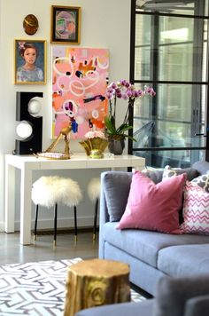 Luxuriate in the Living Room. Interior Designer: Albertina Cisneros of Mimosa Lane