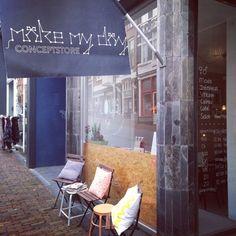 Make My Day Conceptstore Nijmegen. Een te gekke winkel en heerlijk eten. Top Hotspot in Nijmegen! http://www.mytravelboektje.com/make-day/