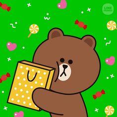 Cony Brown, Cute Bear Drawings, Brown Line, Cute Love Cartoons, Wallpaper App, Line Friends, Cute Bears, I Icon, Love Gifts