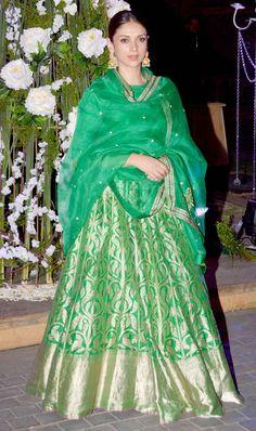 Aditi Rao Hydari at Manish Malhotra's niece Riddhi's sangeet. #Bollywood #Fashion #Style #Beauty