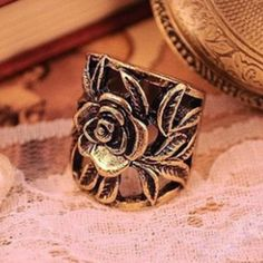 Europe and the United States retro style exquisite rose ring ring wholesale woman gift