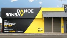 WRD designed this dynamic and eyecatching signage for the Dance Avenue studio - taking a boring and busy frontage and turning it into a clean and easily recognisable property.  www.whiteriverdesign.com