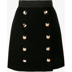 Dolce & Gabbana A-Line Skirt With Gold Buttons