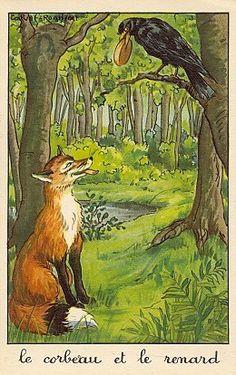 Calvet-Rognat - Fable de Jean de la Fontaine: Le Corbeau et le Renard