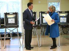 Ann Romney Photos - Mitt And Ann Romney Vote On Election Day In Massachusetts - Zimbio