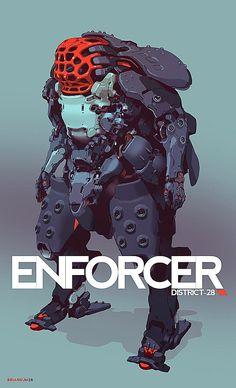 Enforcer, Brian Sum on ArtStation at https://www.artstation.com/artwork/m1naE