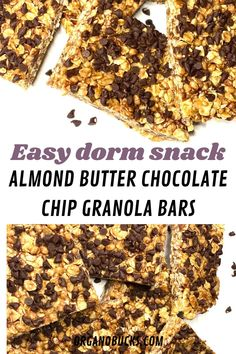 Super easy college snack that can be made in your dorm room. This snack is perfect for college students on a budget! #collegemeals #collegesnacks #healthycollegesnacks #easycollegemeals Healthy College Snacks, Easy College Meals, College Food Hacks, College Hacks, Chocolate Chip Granola Bars, Mini Chocolate Chips, Healthy Breakfast Smoothies, Foods To Eat, Easy Healthy Recipes