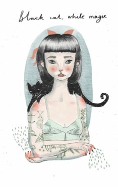Giclée print  - 'Teen Witch'. $13.50, via Etsy.