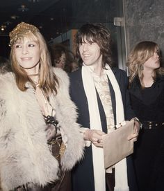 Anita Pallenberg and Keith Richards at the premiere of Performance, 1970.