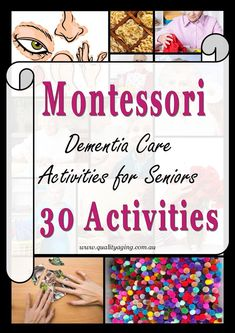 The Montessori Method for Dementia is an evidence-based intervention that can en. The Montessori M Activities For Dementia Patients, Dementia Crafts, Alzheimers Activities, Elderly Activities, Senior Activities, Activities For Adults, Alzheimer's And Dementia, Dementia Care, Assisted Living Activities