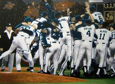 My home team, the Kansas City Royals, win the World Series in 1985—what a fun time my highschool girlfriends and me had down on the Plaza and in Westport that night!!!