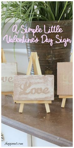 A Simple Little Valentines Day Sign