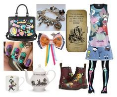 Mad Hatter by thyra-dahl on Polyvore featuring Mode, Paul & Joe Sister, Dr. Martens, Disney and Mrs Moore