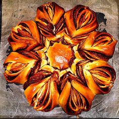 Nutella Star Bread [Homemade] #recipes #food #cooking #delicious #foodie #foodrecipes #cook #recipe #health