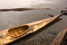 Driftwood and Hide Skin-on-Frame Kayak made by Kiliii Yu of Seawolf Kayak